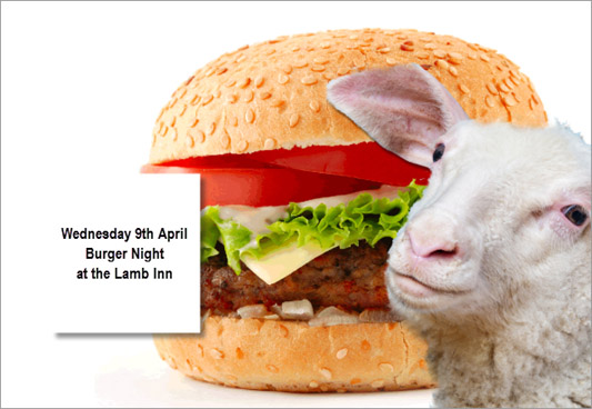 Buger Night at the Lamb